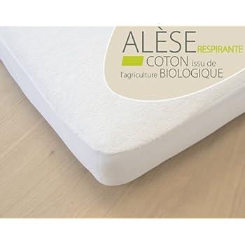 Lot de 2 Al/èses /éponge Coton Bio Pu pour lit b/éb/é 40x80