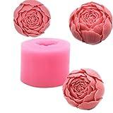 Blumen Rose Runde Form Seife Form Schokolade, Silikon, mit Tablett, selbstgemachte Seife, Form, DIY Kunst, Handwerk, die sich der Form Kerze, Guss, Kuchen Decration Backen Form für Valentinstag Hochzeit Floral Rose02