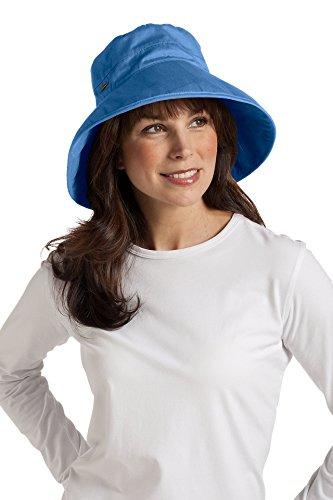 Coolibar-Damenhut, UPF 50, aus Baumwolle, für den Alltag Gr. One size, Smokey Blue