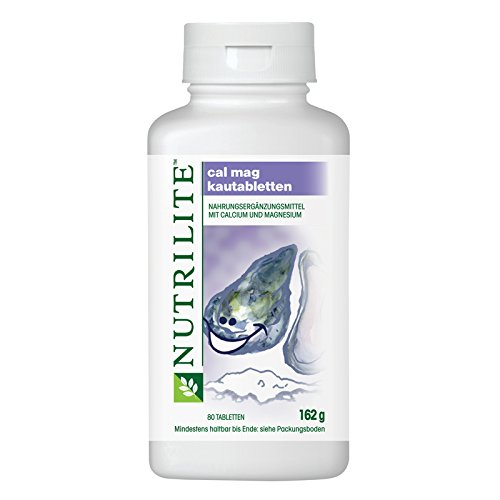Nutrilite Cal Mag Kautabletten - 80 Stück 162g Amway (Kalzium Kautabletten)