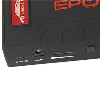 CS-07 Jump Starter 18000mAh 12V Energía Arranque Emergencia para Coche,iPhone iPad BQ Samsung y Otro Movíl Inteligente,Tablet PC con Linterna LED & Cargador de Batería Externa del Coche