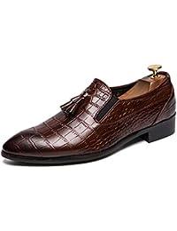 Mocasines de Negocios para Hombres Zapatos de Vestir de Borla Antideslizantes para Hombres con Glamour Zapatos