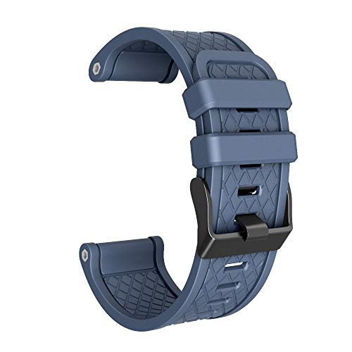 FBGood 26mm Weiches Silikon Ersatzband,Smart Watch Plaid Armband Schnellspanner Ersatz Uhrenarmband Sportarmband Für Garmin Fenix/Fenix 2 - Garmin-marine-kamera