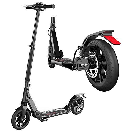 Roller Erwachsene, Adult Kick Scooter mit großen Rädern, Dual Suspension Folding Commuter Scooter mit Scheibenbremse, unterstützt 330lbs, Nicht elektrisch