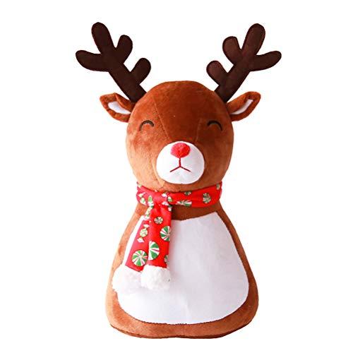 Toyvian Weihnachten Puppe Dekorationen Rentier Figur Spielzeug Plüsch Kissen Weihnachtsfeier Baum Rock Decor Home Tisch Kamin Regal Sofa Ornament Dekoration Geschenke -