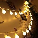Olliwon Catena Luminosa Esterno, 80 LED Lucine Led Decorative 10m IP44 Impermeabile Filo Luci Esterno a Batteria per Addobbi Matrimonio, Giardino, Gazebo con 8 Modalità Luminose