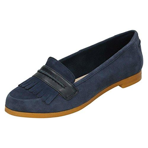 Clarks Geox Andora Crush Womens Lässig Slip-On-Schuhe 5 D (M) UK/38 EU Marine Wildleder (Kleid Casual Clarks)