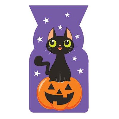 Katzen und Kürbis Halloween Gastgeschenktüten (Lustige Kinder-halloween-snacks)