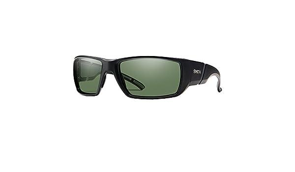 770d6d3b4bf Smith Optics Mens Active Transfer Chromapop Sunglasses - Matte Black   Polarized  Gray Green  Amazon.co.uk  Clothing