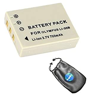 amsahr BT-OLYLI30B-1CT Digital Replacement Camera and Camcorder Battery for Olympus LI-30B/Olympus Mini Digital/S/MJU Mini - Grey