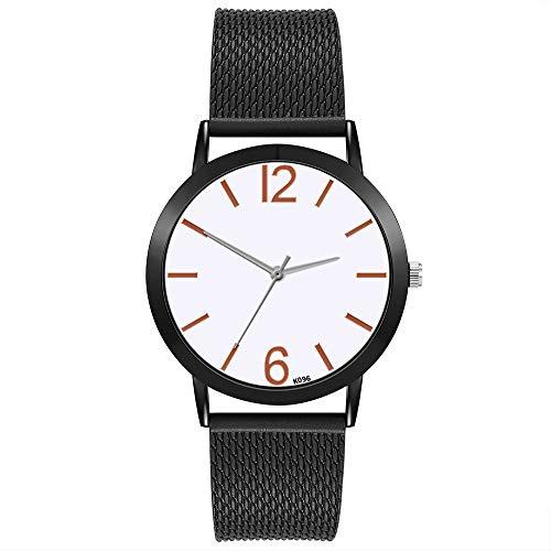 TianWlio Armbanduhren Damen Mode Luxus Freizeit Set Auger Leder Edelstahl Quarz Uhr