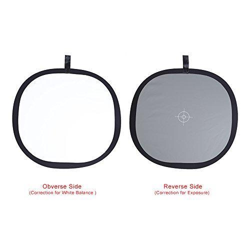 Andoer® 30cm/30,5cm faltbar grau/weiß Balance 18% Grau Grau Referenz Reflektor Karte mit Tragetasche -