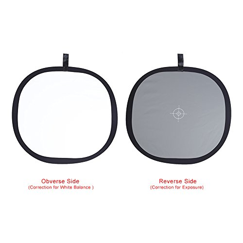 Andoer® 30cm/30,5cm faltbar grau/weiß Balance 18% Grau Grau Referenz Reflektor Karte mit Tragetasche (Karte Grau)
