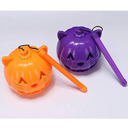 cht Kinder Tragbare Laterne Bat Licht Katze Gesicht Laterne Musik Shiny Toy Geschenk Kleines Geschenk (Color : 2) ()