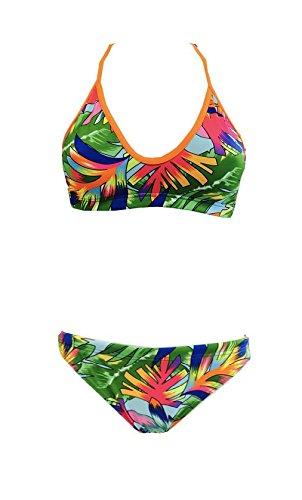 Turbo-Bikini-Tropical-Mare-Mix-Match-swimkini--Top-Slip-por-separado-bestellbar-grn-orange