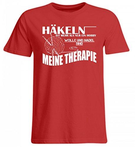 Shirtee Hochwertiges Übergrößenshirt - Häkeln ist Meine Therapie