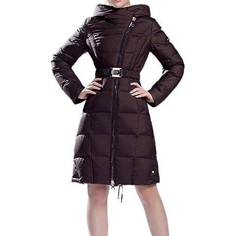 Mcitymall77 Cappotti Donna Piumino Manica Spesso Con Cappuccio da Donna Giubbino Imbottito Invernale Calda Giacca Blu Scuro XXL
