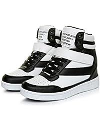 Las mujeres 's alto como para ayudar a los zapatos planos - tocó fondo zapatos deportivos de ocio