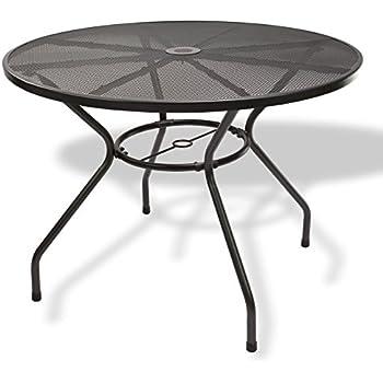 nexos runder gartentisch esstisch terrassentisch glastisch glasplatte schwarz. Black Bedroom Furniture Sets. Home Design Ideas