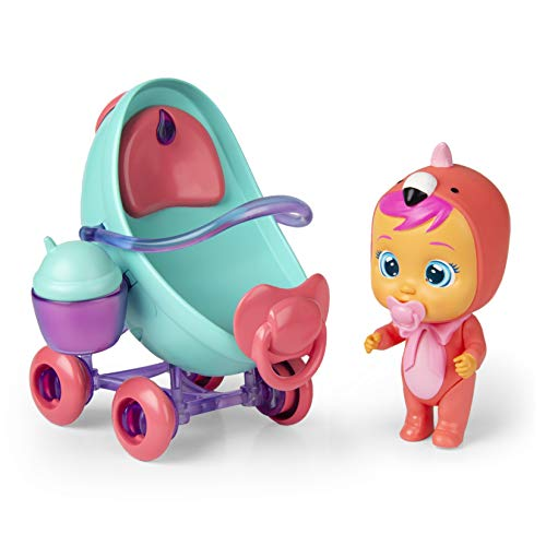 Explore the magical world of Cry Babies Magic Tears with Fancy's vehicle!  Converts from a pram into a vehicle with steering wheel! Includes 3 accessories. Fill the bottle with water to feed fancy and squeeze her tummy to make her cry real tears. Col...
