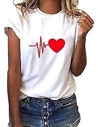 Zilosconcy Camiseta Mejor Pareja Amiga Shirt de Manga Corta de ECG para Joker Top Mujer 100