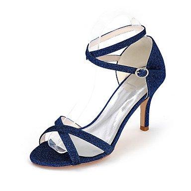 CH&TOU Da donna-Sandali-Matrimonio Serata e festaA stiletto-Lustrini-Nero Blu Rosso Argento Dorato blue