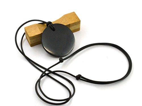 Schungit Stone Massiv Schwarz Persönlichen Schutz Anhänger verschiedenen Formen für Männer für Frauen resizeble Halskette