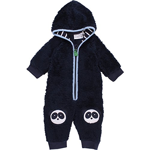 Fred's World by Green Cotton Baby-Jungen Anzug Panda Fleece Suit Blau (Navy 019392001), (Anzug Panda Baby)