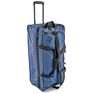 Jeep Large Wheeled Luggage Bags - 5 Years Warranty! (Navy 86L)