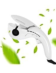 U-Kiss Mini Fer à Boucler professionnel JL-608PRO-B céramique , Fer à Friser anionique, Curl Boucleur Cheveux Soins des Cheveux Réglages de température Boucler Automatique Chauffage Rapide, blanc