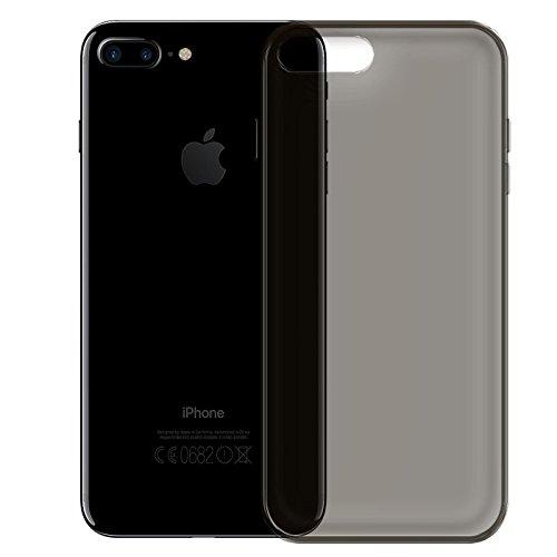 iPhone 7 Plus Soft Silikon Case, Conie Mobile Klare Hülle, Crystal Clear Premium TPU Rückschale in Blau Schwarz