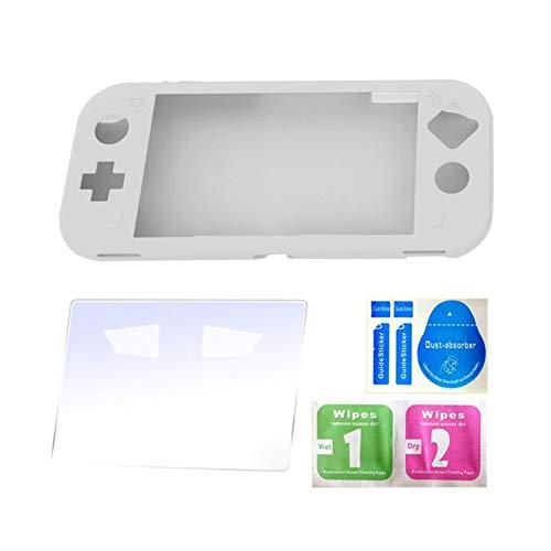 Iswell New Switch Lite Mini Consola de Juegos Gel de sílice Paquete Completo Funda Protectora Presente Kit de protección y rasgadura de película templada Compatible con Nintendo Switch