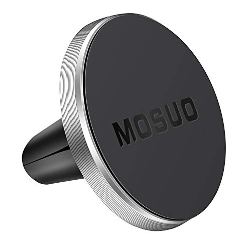 MOSUO Handyhalterung Auto Lüftung KFZ Halterung Magnet, Universal Handyhalter fürs Auto für iPhone X 8 7 Plus 7s Samsung Huawei Xiaomi und Andere Smartphone Oder GPS, Silber