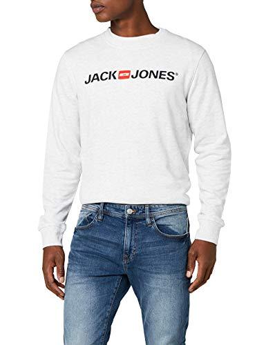 JACK   JONES Herren Sweatshirt JORTHELOGO 1 Sweat Mix Pack, Grau (White  Melange Fit 1456a57f46