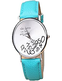 iSweven Super Fancy casual ladies quartz watche spring collection Analogue Blue Unisex Wrist Watch W1037b