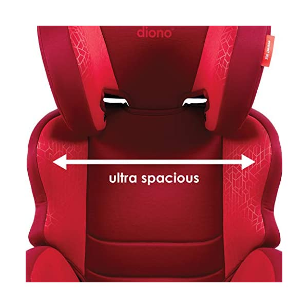 Diono Everett NXT Fix Highback Booster Seat - 7 Position Adjustable Headrest, Group 2/3 (15 - 36 kg and Up to 160 cm In Height), Approx. 4-12 Years, Plum Diono Designed to grow: group 2/3 car seat is suitable from 18kg - 50kg, approx. 4 to 12 years old. The 7-position adjustable headrest can be altered using the handle on the back of the seat Superior safety: cushioned side impact protection has been engineered and tested to the highest standards. The ergonomic design includes extra padding to provide comfort and security as a child grows Universal connectivity: parents can install the seat using the vehicle seatbelt or use the integrated rigid latch connectors that anchor the seat to the car allowing the child to buckle themselves in 5