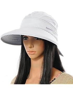 La Haute Sombrero ancho de ala grande, visera, sombrero, gorra, verano, playa, sombrero, niña mujer, blanco