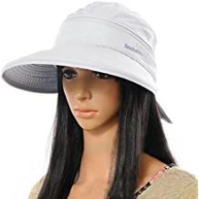 Amazon.es  sombrero playa mujer - Blanco 9a1a90f6547