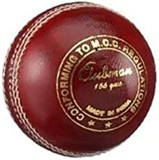 GM Club Man Cricket Leather Ball ( Red)