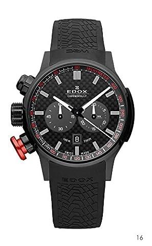 Edox Montre bracelet Mixte Edox Rally Instrument Chrono Rally Chronographe Quartz Caoutchouc 1030237N NIN