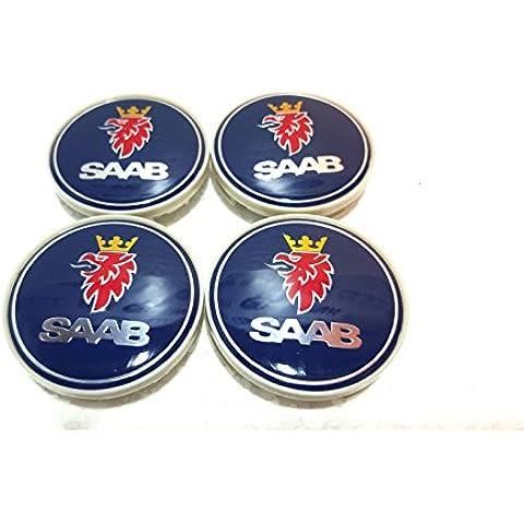 4x Saab lega ruota centro Caps Set 63mm 9–39–5–900