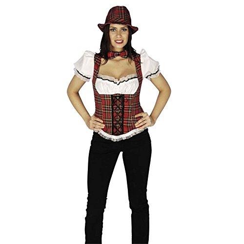 Schottenmieder mit Bluse, heißes Wiesn oder Party Kostüm - (Sexy Schottischen Kostüme)