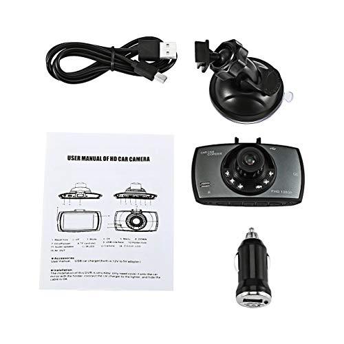 Elviray Portable HD 16: 9 LCD Nachtsicht Eingebauter Lautsprecher Bewegungserkennung Digital Video Auto Fahrkamera G-Sensor Car Camcorder Digital Portable Dvr