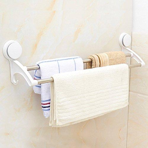 ZHGI Ventosa doppia punch-free asciugamano gancio in acciaio inox porta asciugamani bagno bagno PORTASALVIETTE MENSOLA