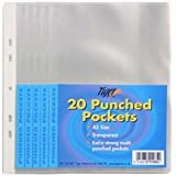 Tiger A5 clear punched poly pockets - pack of 100 quality sleeves
