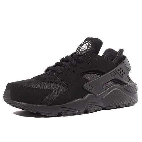 Nike Herren AIR Huarache Sneaker, Schwarz Black-White, 42.5 EU