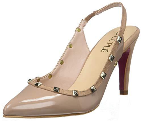 CUPLÉ Vega, Zapatos tacón Punta Cerrada Mujer, Beige