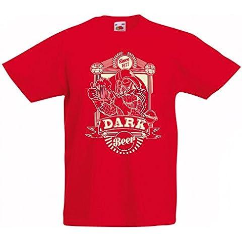 N4346K La camiseta de los niños Cerveza oscura