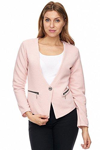 Unbekannt - Chaqueta de traje - Básico - para mujer A1108-Rosa 38