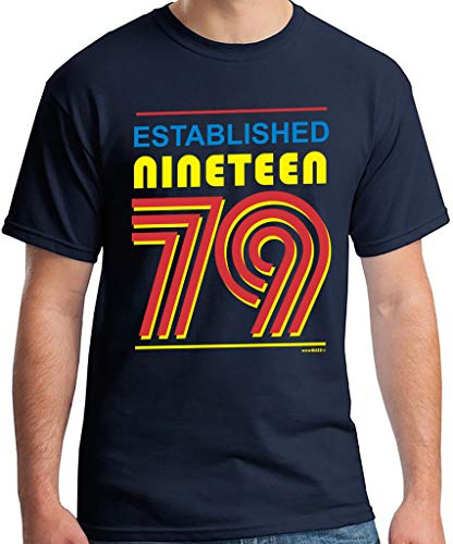 40th Birthday Gifts Regalo Uomo 40 Anni Compleanno Established Nineteen 79 (1979) Maglietta T-Shirt